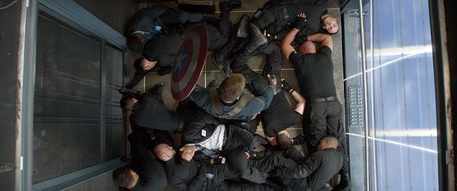 Image result for captain america the winter soldier elevator scene