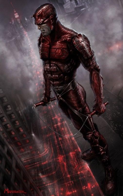 Marvel Daredevil Red And Black
