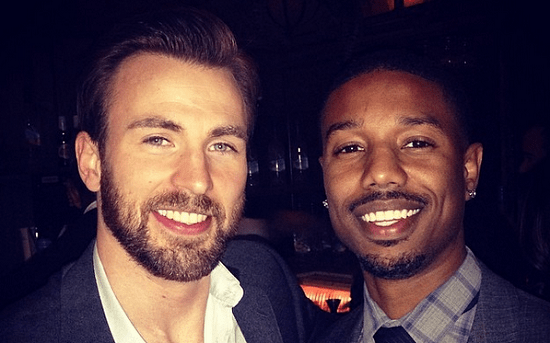 Image result for Chris Evans and Michael B Jordan