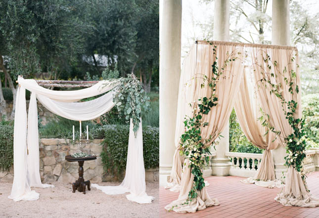 5 Beautiful And Easy DIY Wedding Backdrops