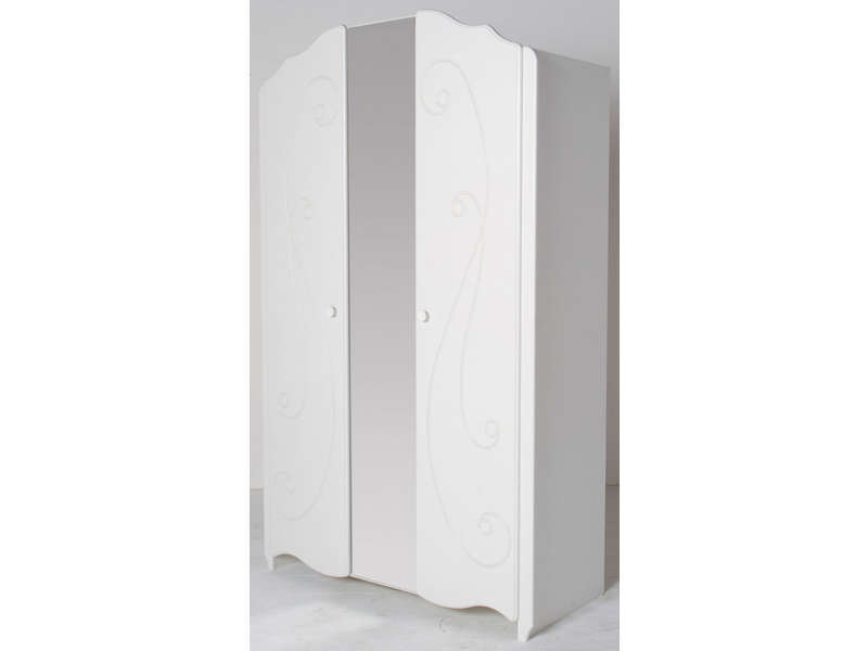 armoire 2 portes alice coloris blanc vente de armoire enfant conforama
