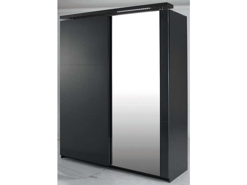 armoire noir laque conforama bright