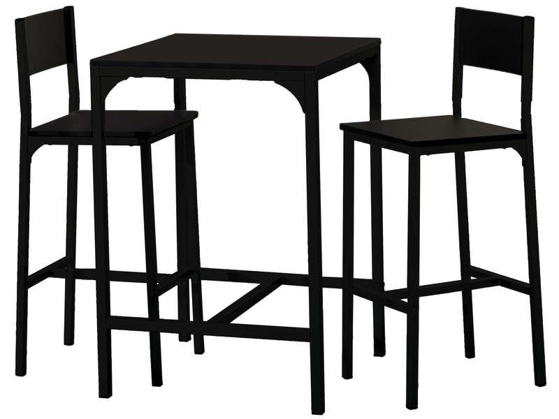 ensemble table 2 tabourets de bar