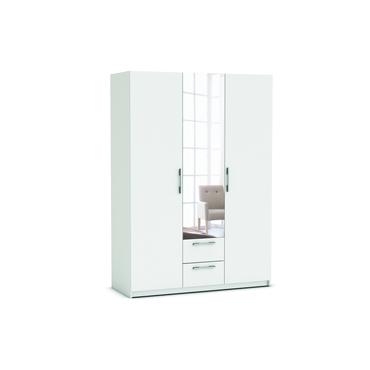 Armoire 3 Portes 2 Tiroirs SATURNE Coloris Blanc Vente