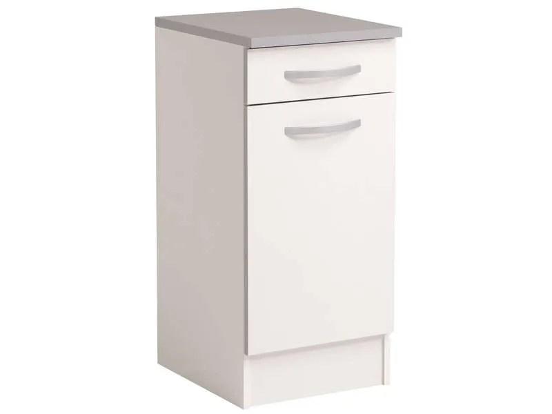 meuble bas 40 cm 1 porte 1 tiroir