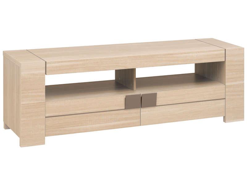 meuble tv 182 cm atlanta coloris chene clair vente de meuble tv conforama