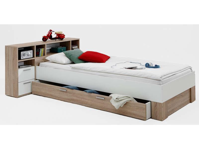 lit 1 place avec rangement conforama