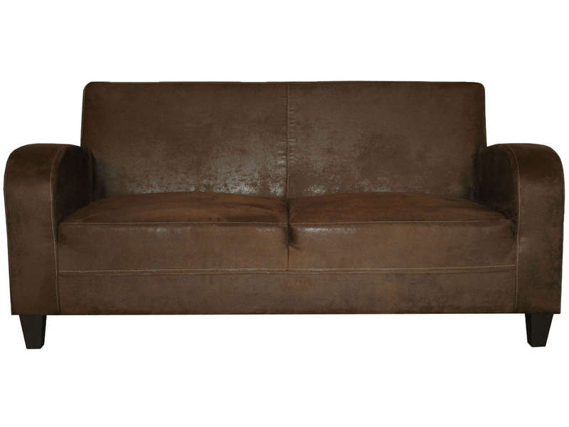 canape fixe 3 places en tissu nany coloris marron vente de canape droit conforama