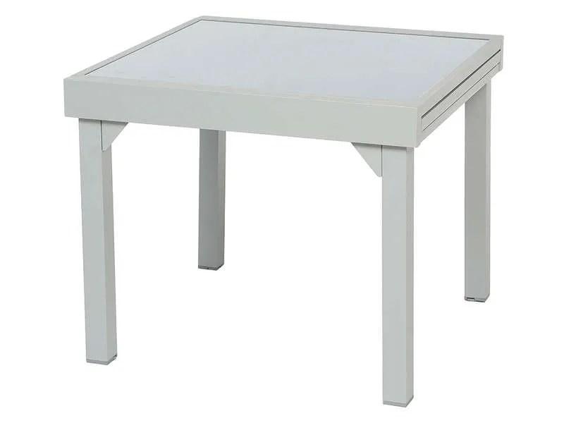 table de jardin 90 cm avec allonge