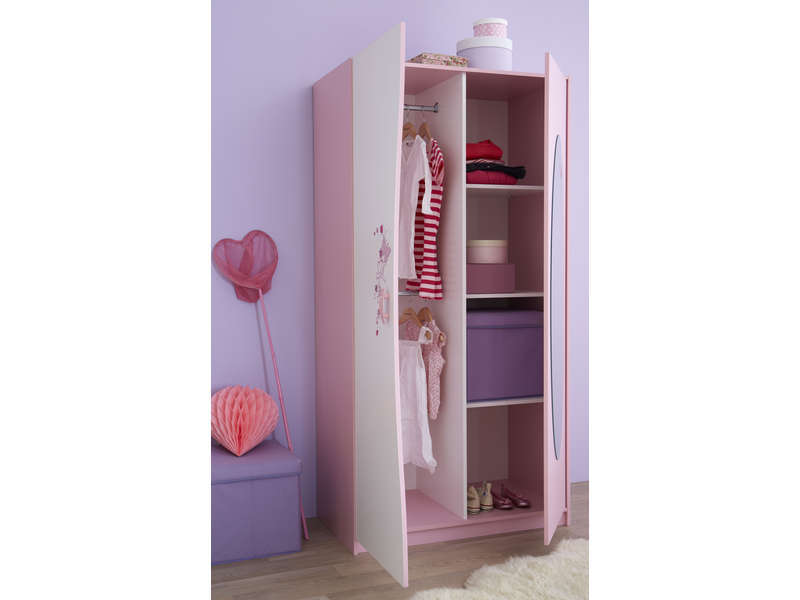armoire rose fille bright shadow online