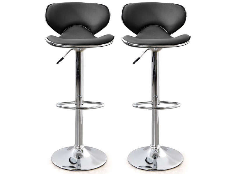 lot de 2 tabourets de bar reglable en hauteur arno coloris noir vente de bar et tabouret de bar conforama