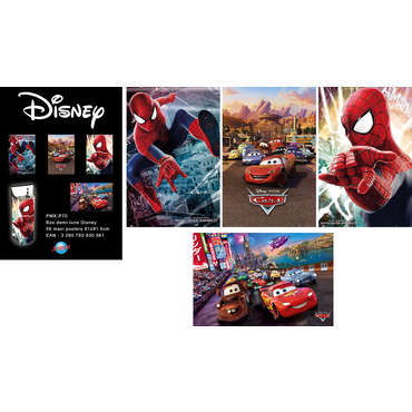 Poster ou image 61x91cm CARS OU SPIDERMAN