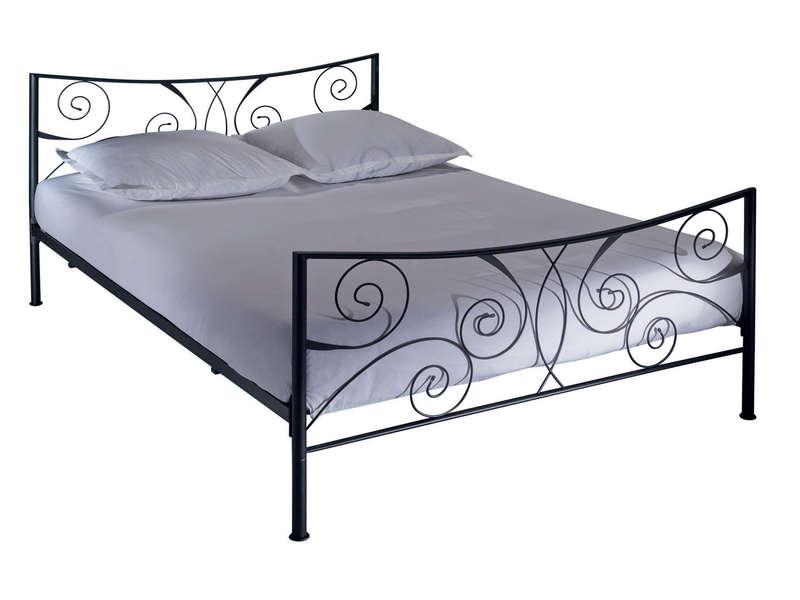 lit adulte 140x190 cm ellipse 2 coloris noir vente de lit adulte conforama