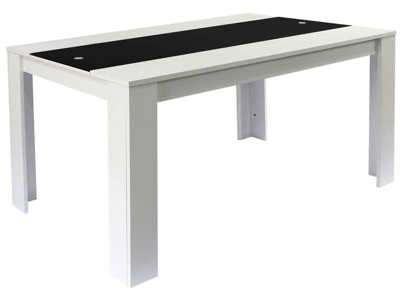 table rico coloris blanc et noir pas