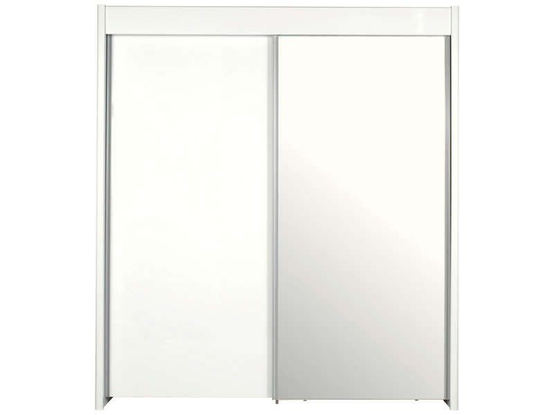 Armoire 2 Portes Coulissantes EASY 3 Coloris Blanc Vente