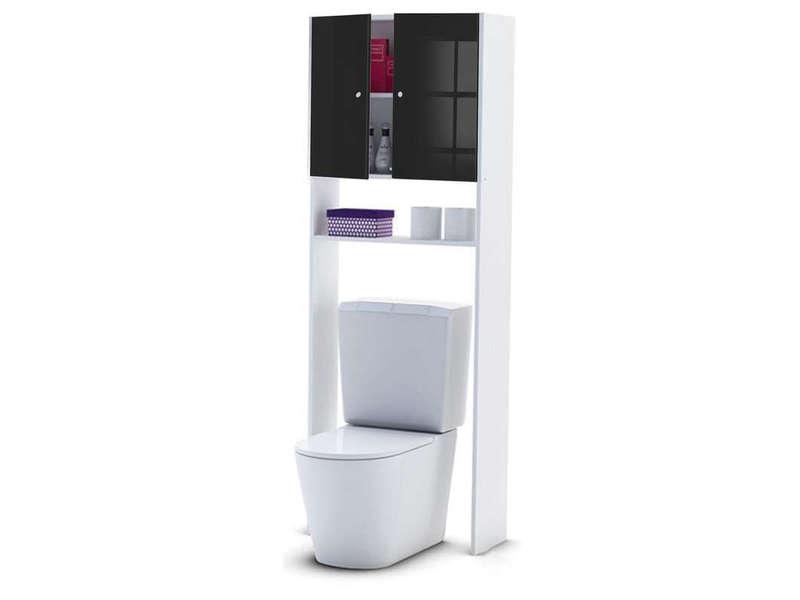 Pont Rangement WC Machine Laver SORAMENA Coloris Noir