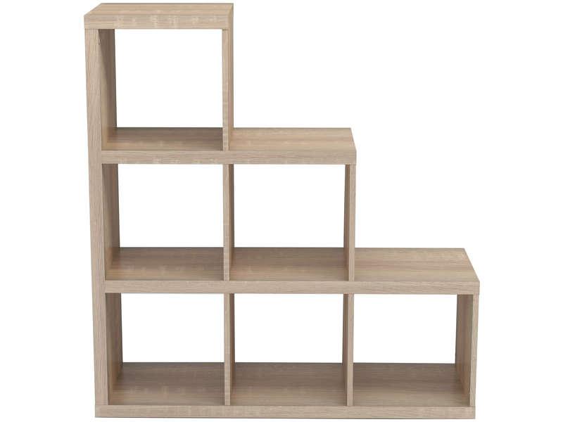 bibliotheque escalier 6 cases