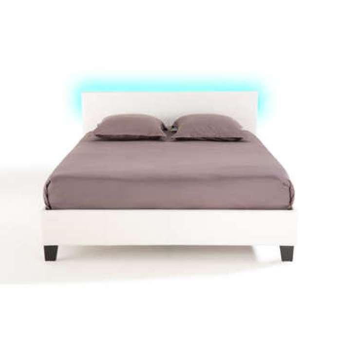 Lit adulte 160x200 cm avec led BLOOM LIGHT