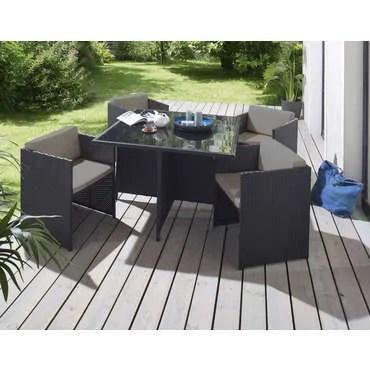 4 fauteuils andreas coloris noir