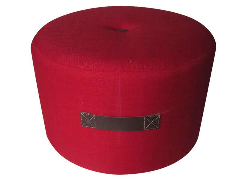 Pouf Bouton Coloris Rouge Vente De Pouf Conforama