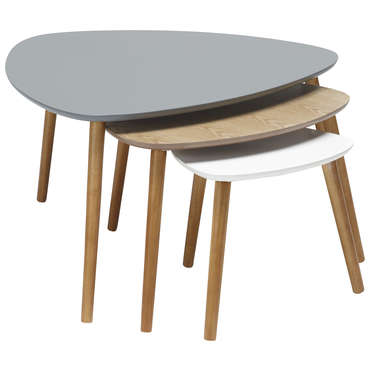 lot de 3 tables gigognes agnes vente