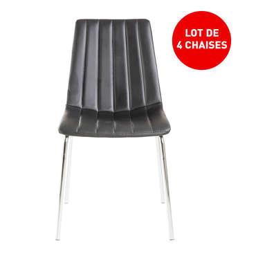 chaises en pu cotton coloris noir
