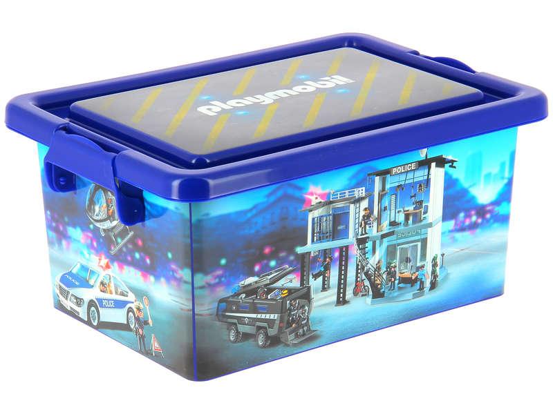 boite rangement playmobil police