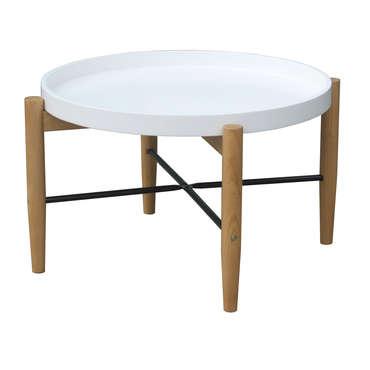 table basse olga coloris blanc vente