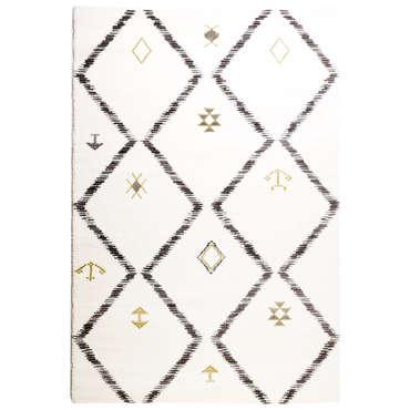 tapis 200x290 cm lya coloris blanc gris