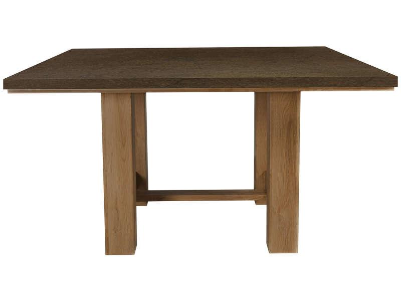 Table Carree 140 Cm Broceliande Rouille Vente De Table Conforama