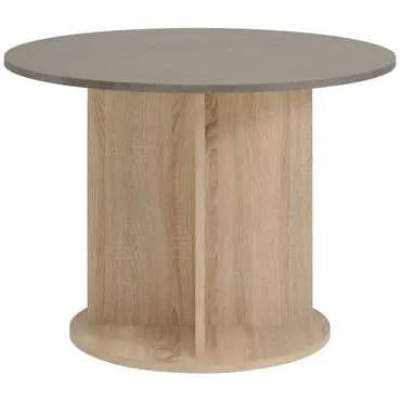 table ronde 100 cm demon coloris chene
