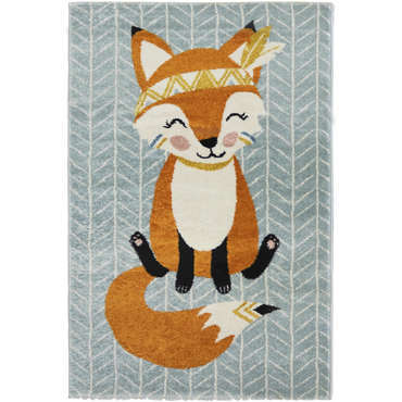 tapis enfant 100x150 cm renard vente