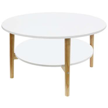table basse ronde lupin coloris blanc