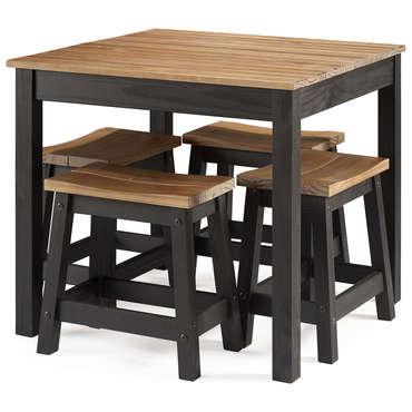 ensemble table et 4 tabourets joe