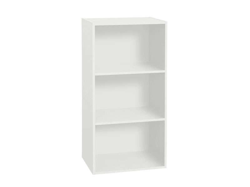 Bibliotheque 3 Cases Cubico 3 Coloris Blanc Vente De Bibliotheque Conforama