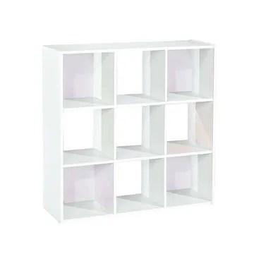 Bibliotheque 9 Cases Modulo 2 Coloris Blanc Conforama