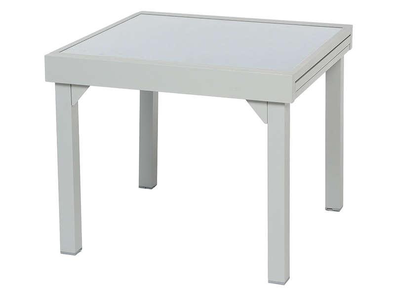 Table De Jardin 90 Cm Avec Allonge Tenerife Coloris Silver Vente De Table De Cuisine Conforama