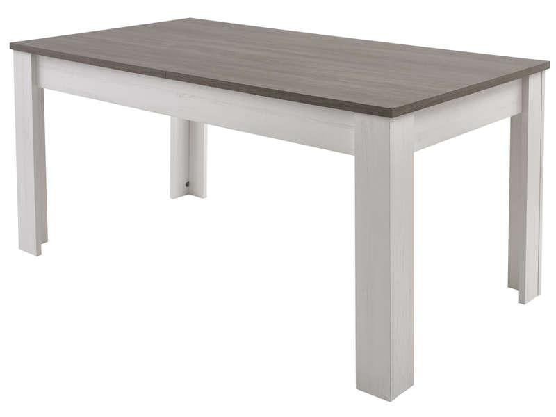 Table Rectangulaire Avec Allonge 230 Cm Max Duke Coloris Pin Blanchi Chene Prata Conforama