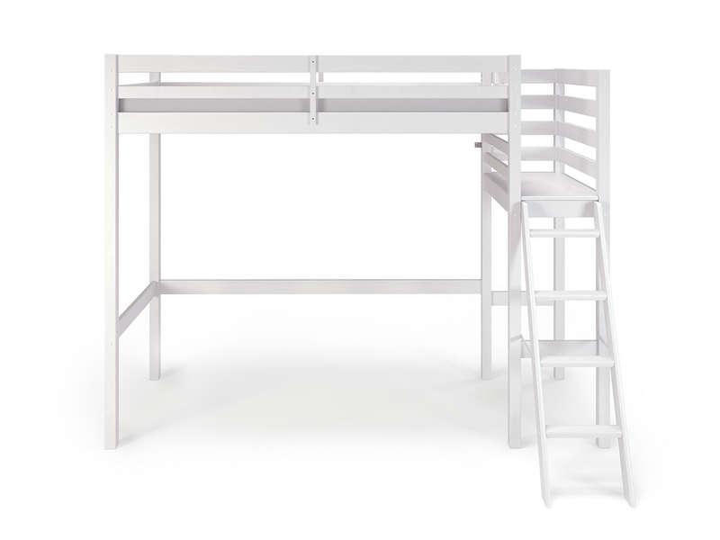 Lit Mezzanine 90x190 200 Cm Melody Coloris Blanc Vente De Lit Enfant Conforama