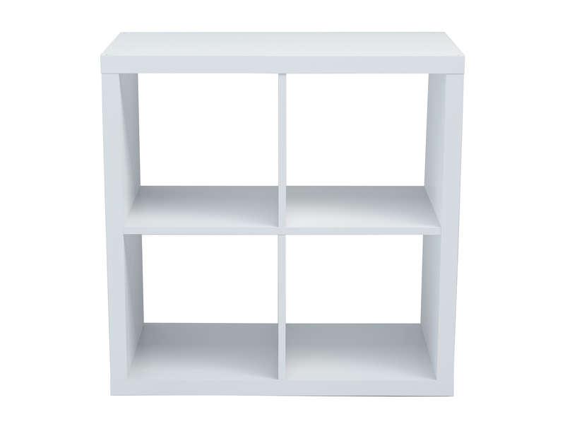 Bibliotheque 4 Cases Alvin Coloris Blanc Vente De Bibliotheque Conforama