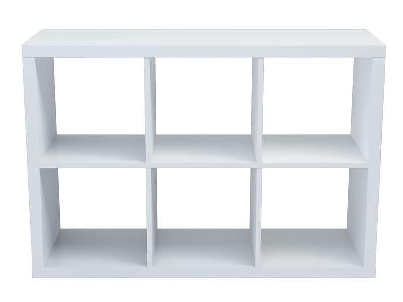 Bibliotheque 6 Cases Alvin Coloris Blanc Vente De Bibliotheque Conforama