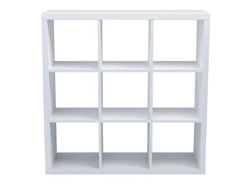 Bibliotheque 9 Cases Alvin Coloris Blanc Vente De Bibliotheque Conforama