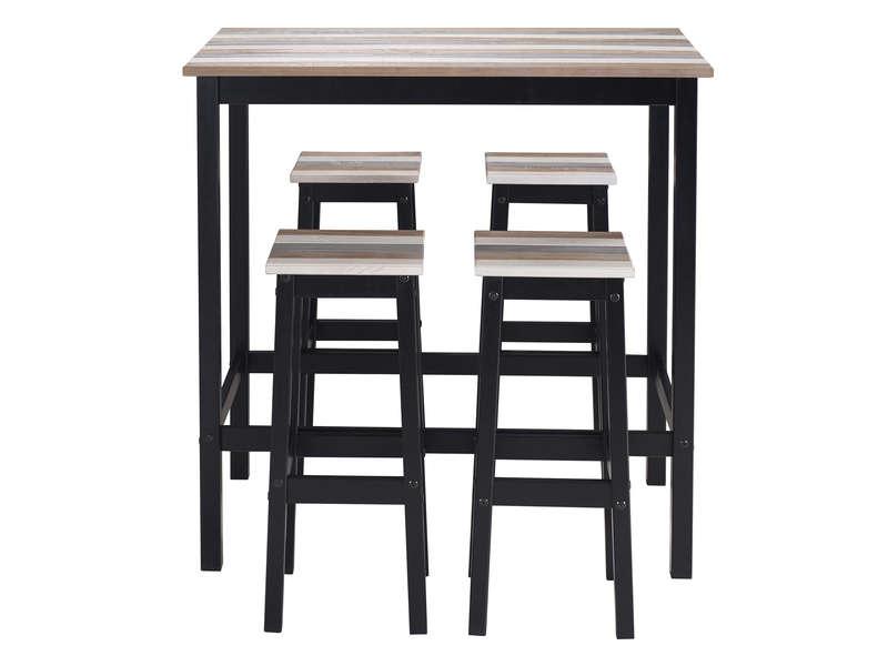 Table Haute 4 Tabourets Turner Vente De Ensemble Table Et Chaise Conforama