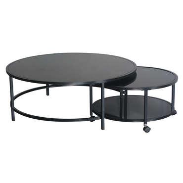 Table Basse Logan Coloris Noir Vente De Table Basse Conforama