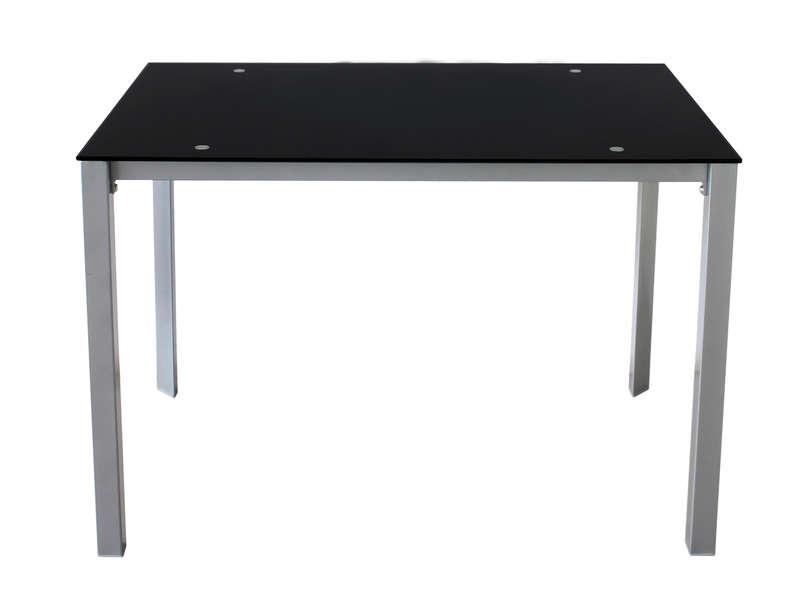 Table Rectangulaire 110 Cm Charlen Coloris Noir Vente De Table Conforama