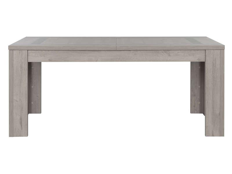 Table Rectangulaire Avec Allonge L Max 226 Cm Boston Coloris Chene Gris Clair Vente De Table Conforama