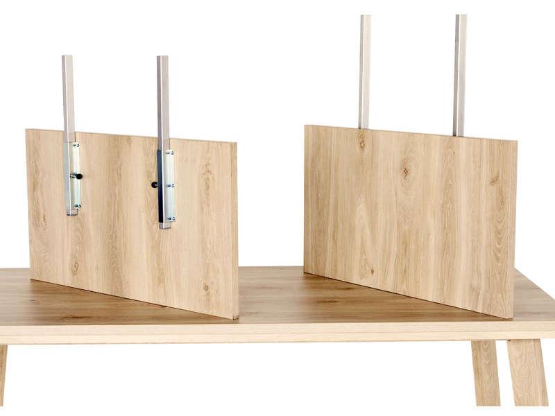 Allonge Pour Table Rectangulaire Sidney Coloris Chene Anthracite Vente De Accessoires De Sejour Conforama