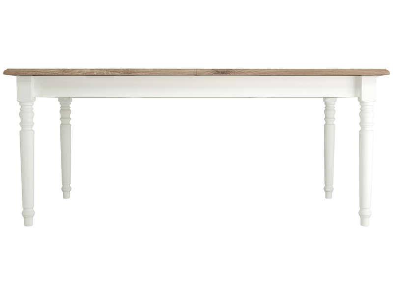 Table Rectangulaire Extensible 180 Cm Cottage Coloris Blanc Vente De Table Conforama