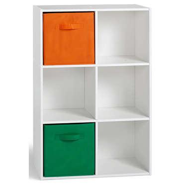 Bibliotheque 6 Cases Arthur Coloris Blanc Vente De Bibliotheque Conforama