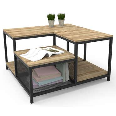 Table Basse Carree Richie Coloris Bois Noir Vente De Table Basse Conforama
